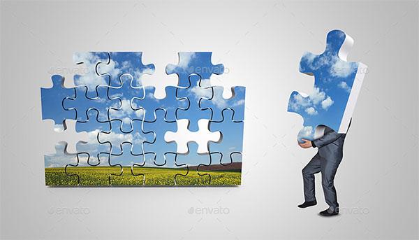 3D Puzzle Mockups