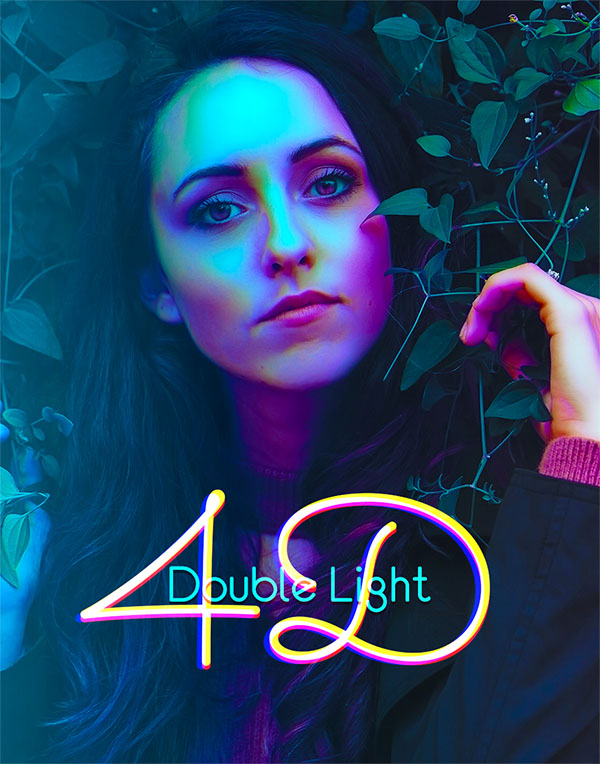 4D Double Light Photoshop Action