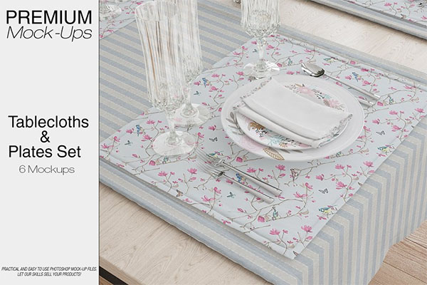 Ablecloth, Runner, Napkins & Plates