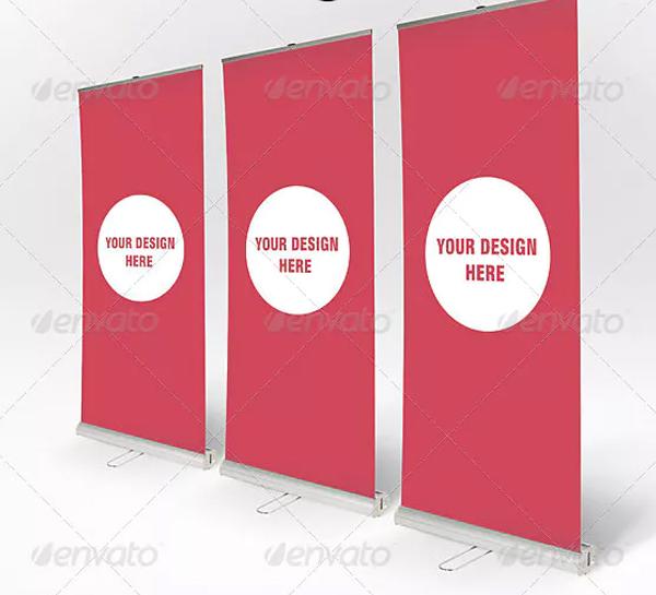 Advertising Roll Up Banner Mockup
