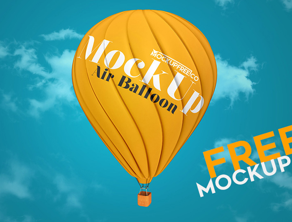 Air Balloon Free PSD Mockup Template