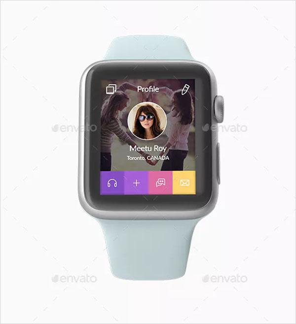 Apple Smart Watch 3D Mockup