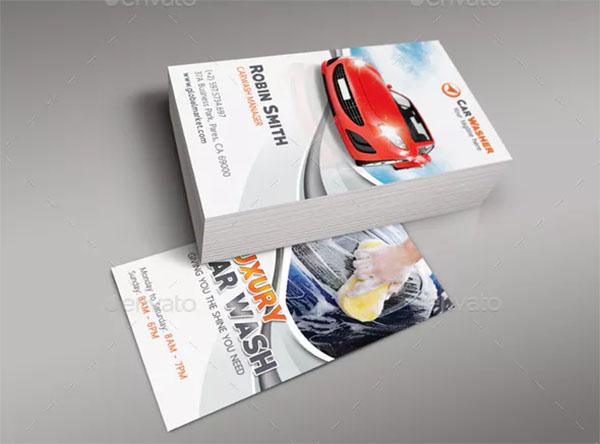 Automobile Car Wash Business Card
