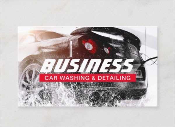 Automotive Car Wash Business Card