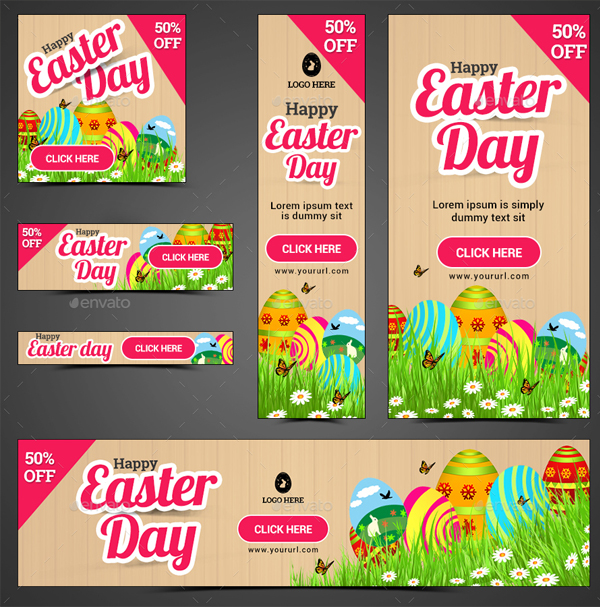 Awesome Quality Easter Ad Banner Templates