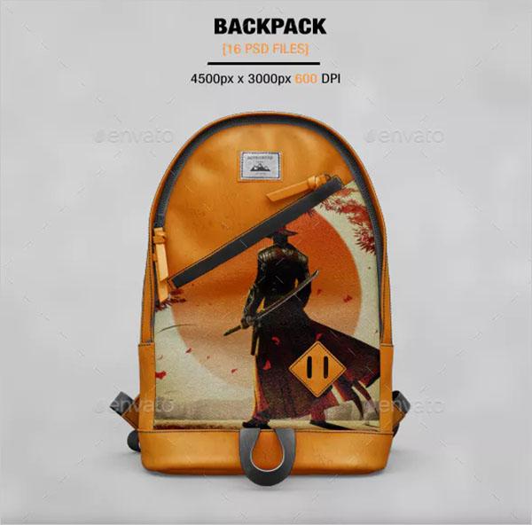 BackPack Mockup Design