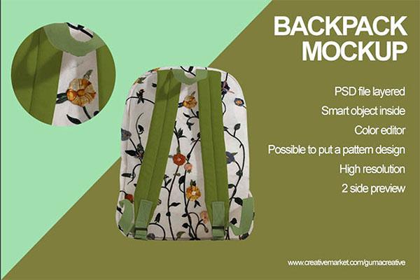 Backpack Mockup Design Template