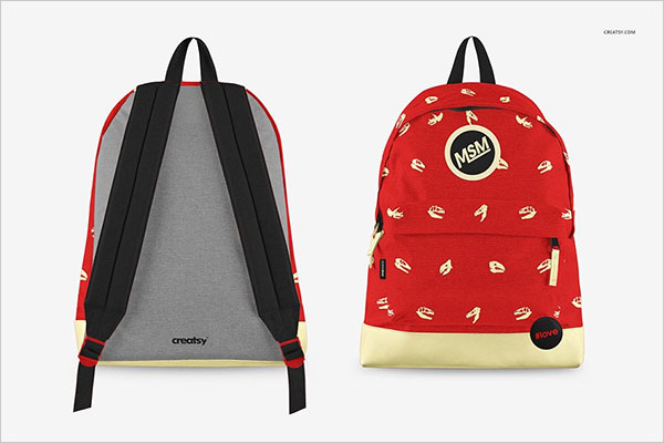 Backpack Mockup Set