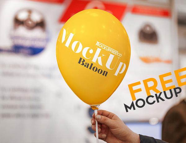 Balloon Free PSD Mockup