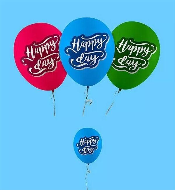 Balloon Mockup Free PSD Download