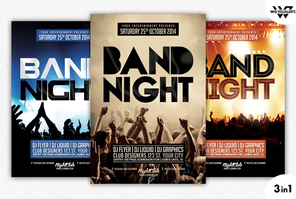 Band Night Flyer Template