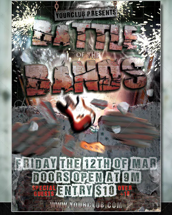 Battle of the Bands Flyer Design Template