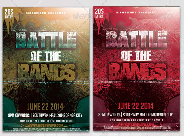 Battle of the Band Flyer Templates