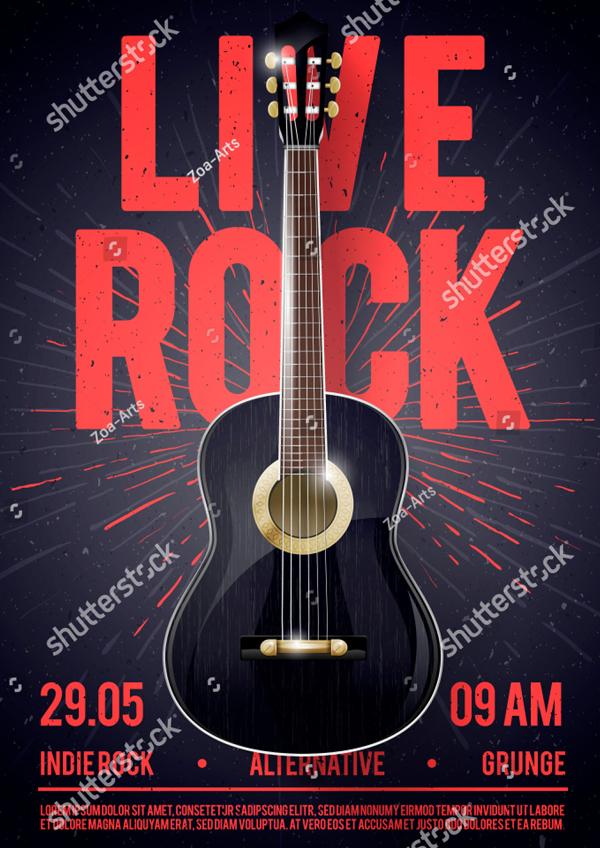Beautiful Live Classic Rock Music Flyer