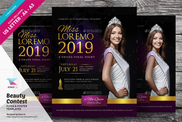 Beauty Contest Flyer and Poster Templates
