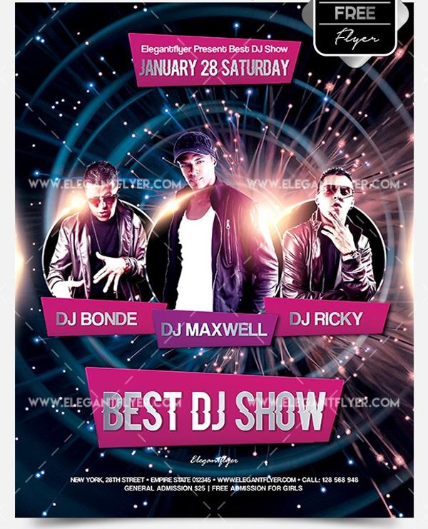 Best DJ Show Free Flyer PSD Template