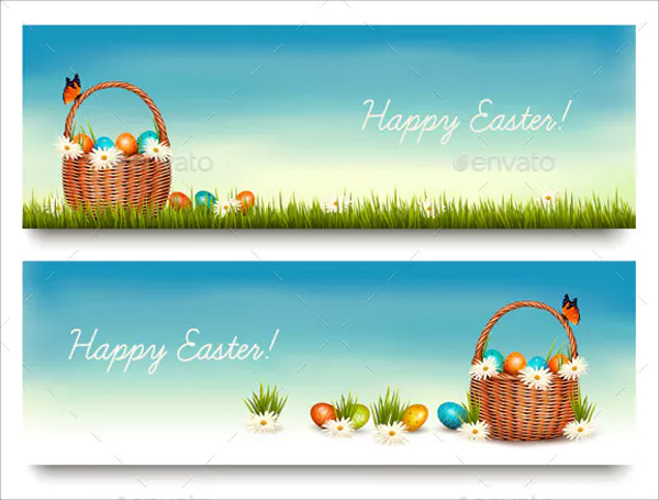 Best Happy Easter Banner Templates