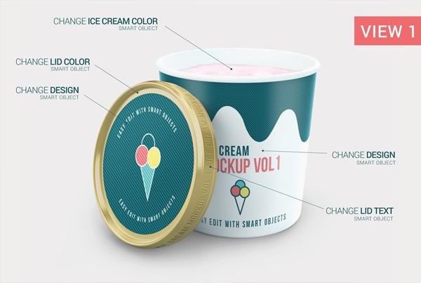 Best Ice Cream Package Mockup