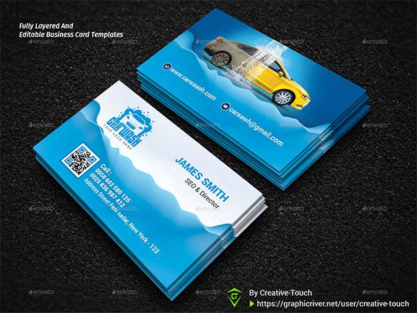 Best Service Car Wash Business Card