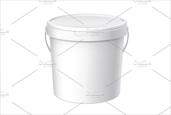 Best White Plastic Bucket Mockup