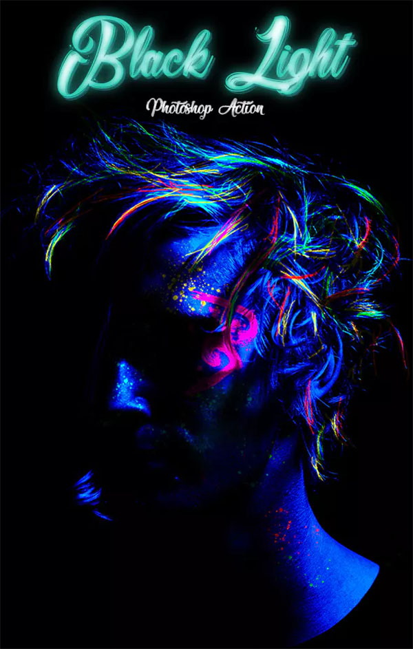 Black Light Photoshop Action