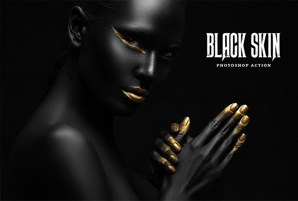 Black Skin Photoshop Actions