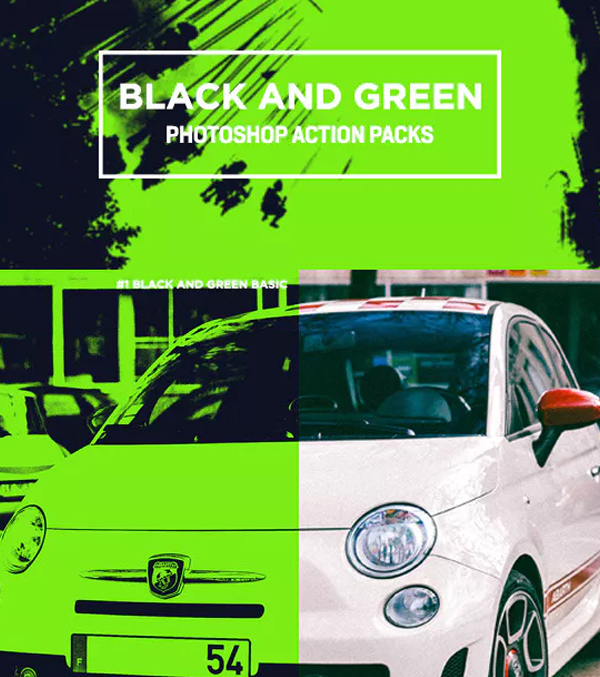 Black and Green Photoshop Action