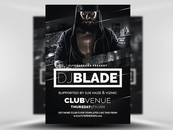 Blade DJ Free Flyer Template