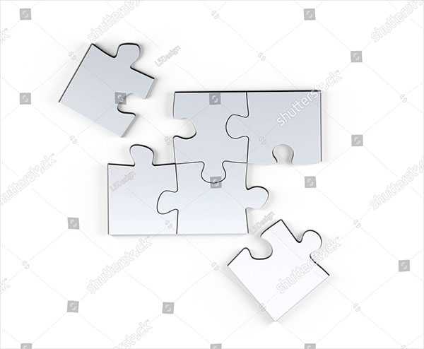 Blank Puzzle Mock-Up