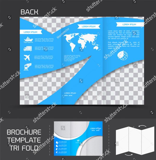 Blue Logistics Brochure Template