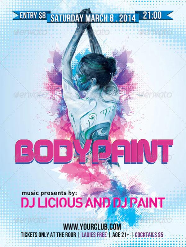 Bodypaint Flyer Template