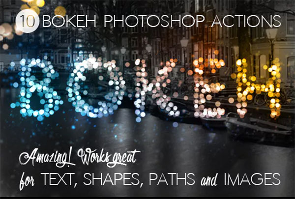 Bokeh Lights Photoshop Actions