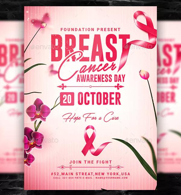 Breast Cancer Awareness Month Flyer Design Template