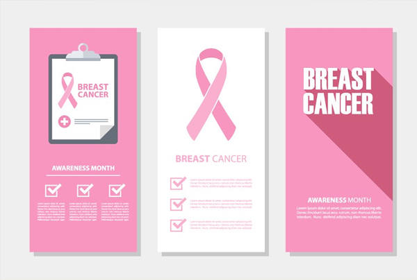 Breast Cancer Flyers Set