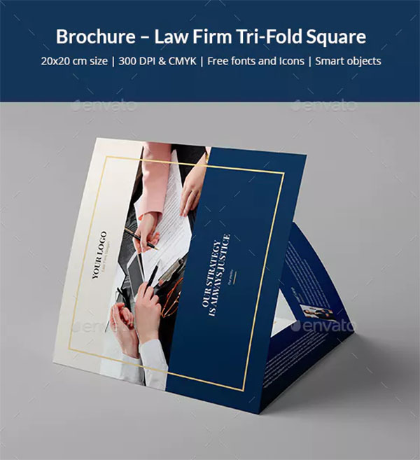 Brochure Lawyer Firm Tri-Fold Square