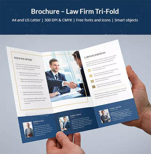 Brochure Lawyer Firm Tri-Fold