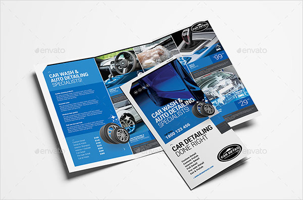 Car Detailing Trifold Brochure Template