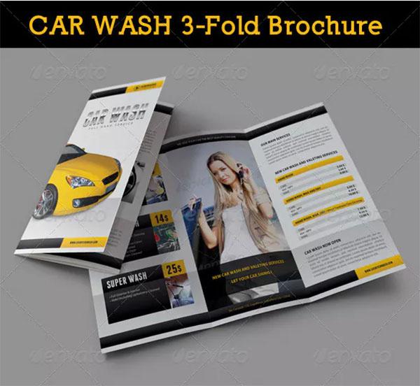 Car Wash 3-Fold Brochure