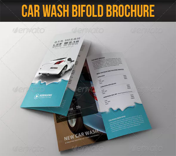Car Wash Bifold Brochure Design Template