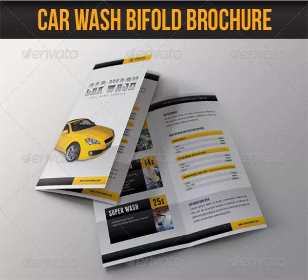 Car Wash Bifold Brochure Template