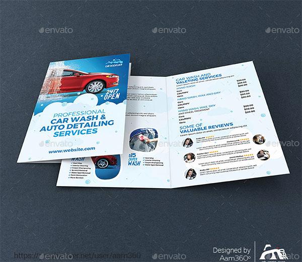 Car Wash Bifold Brochure