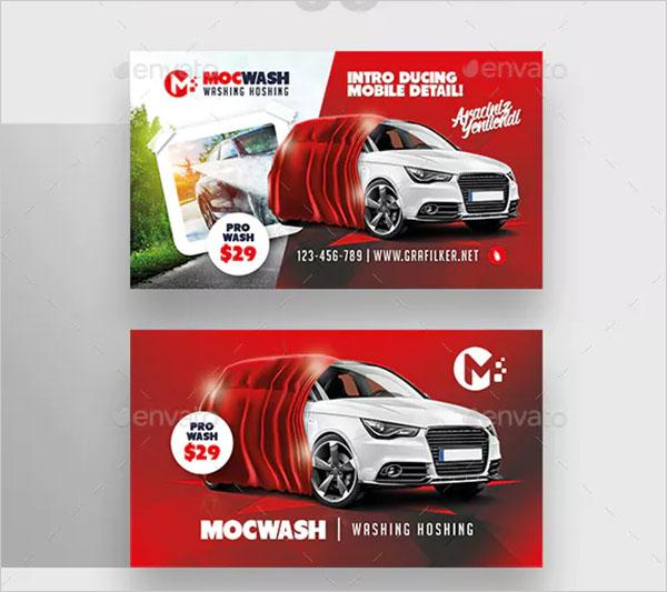Car Wash Business Card Bundle Templates