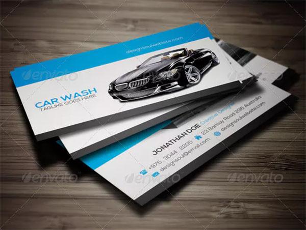 Car Wash Business Card Design