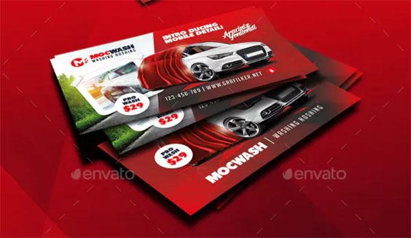 Car Wash Business Card PSD Templates