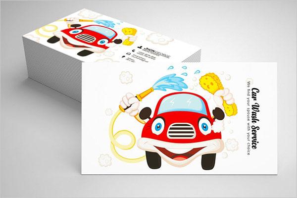 Car Wash Business Card Template Design