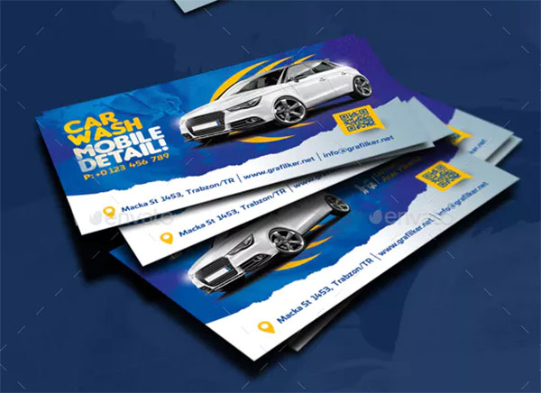Car Wash Business Card Templates Design
