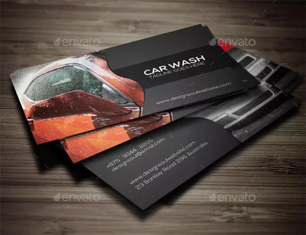 Car Wash Business Design Card