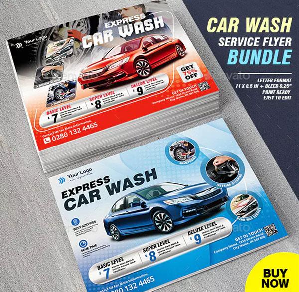 Car Wash Business Flyer Bundle Template