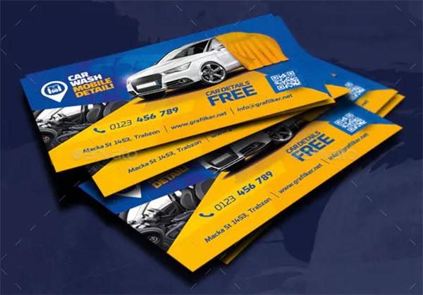 Car Wash Design Business Card Template