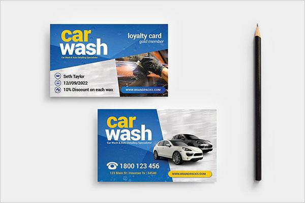 Car Wash Latest Business Card Template